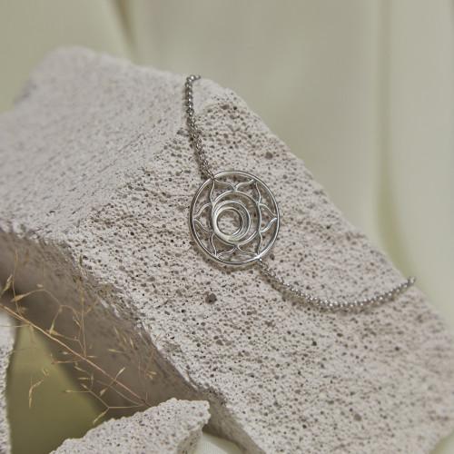 Браслет 2 ЧАКРА СВАДХИСТАНА большая, серебро-925