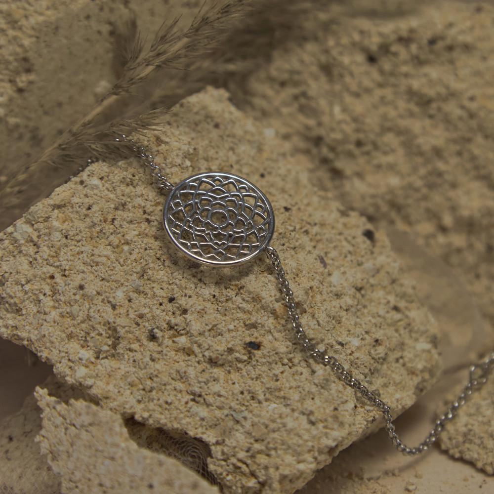 Браслет 7 ЧАКРА САХАСРАРА большая, серебро-925