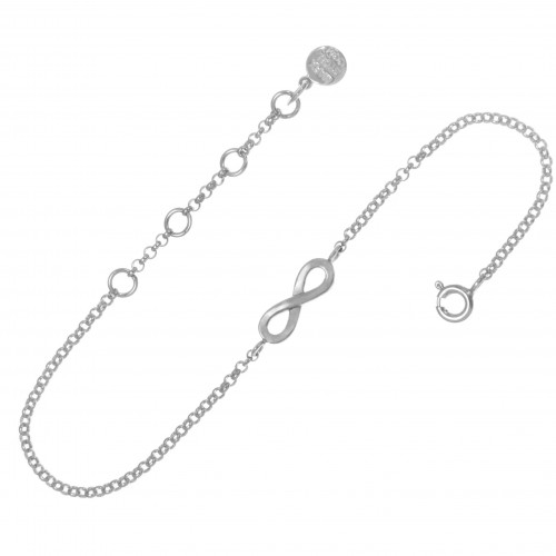 Браслет БЕСКОНЕЧНОСТЬ маленькая, серебро-925