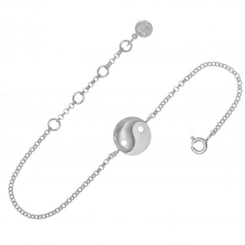 Браслет ИНЬ - ЯНЬ, серебро-925