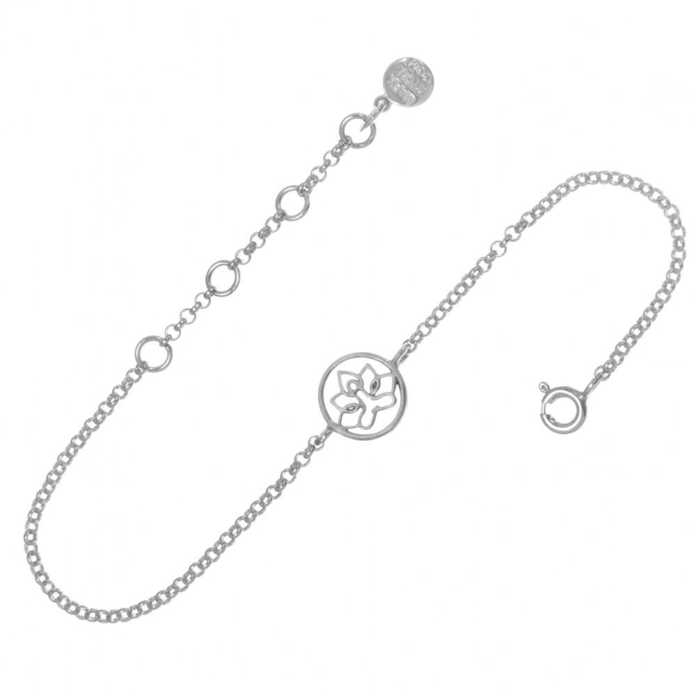 Браслет ЛОТОС, серебро-925