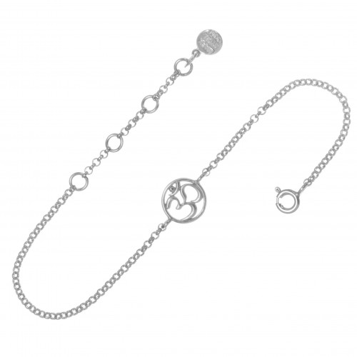 Браслет ОМ, серебро-925