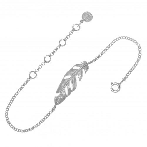 Браслет ПЕРО, серебро-925