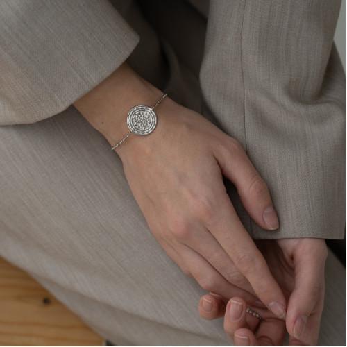 Браслет ШРИ ЯНТРА, серебро-925