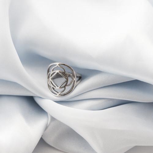 Кольцо 1 ЧАКРА МУЛАДХАРА, серебро-925