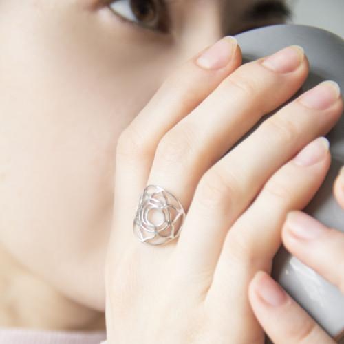Кольцо 2 ЧАКРА СВАДХИСТАНА, серебро-925