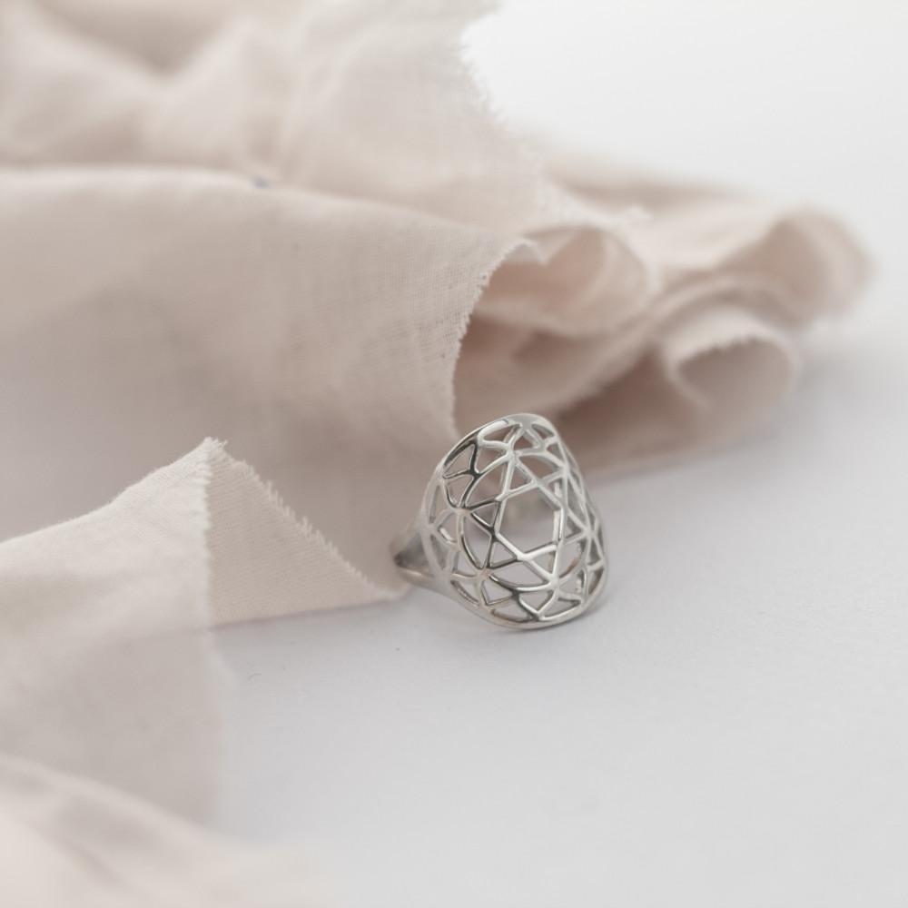 Кольцо 4 ЧАКРА АНАХАТА, серебро-925