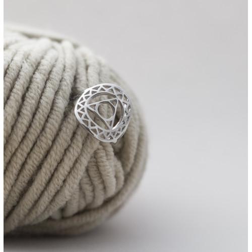 Кольцо 5 ЧАКРА ВИШУДХА, серебро-925
