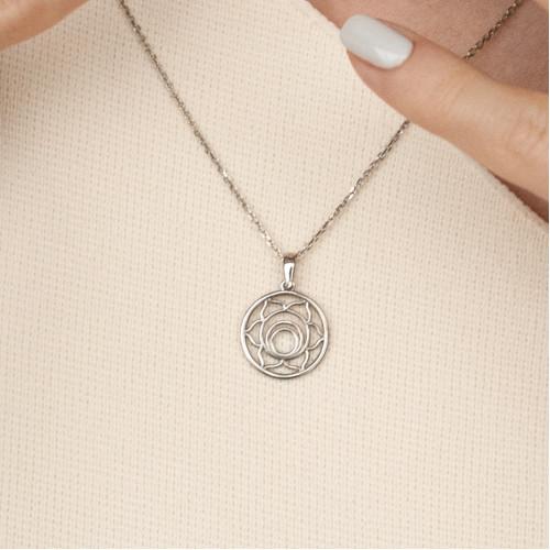 Колье 2 ЧАКРА СВАДХИСТАНА маленькая, серебро-925
