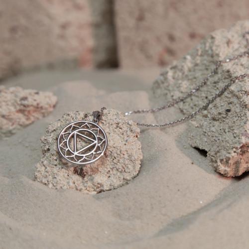 Колье 3 ЧАКРА МАНИПУРА большая, серебро-925