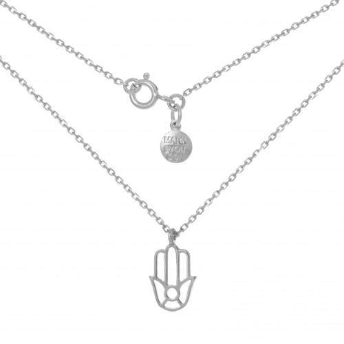Колье ХАМСА, серебро-925