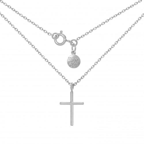 Колье КРЕСТ, серебро-925