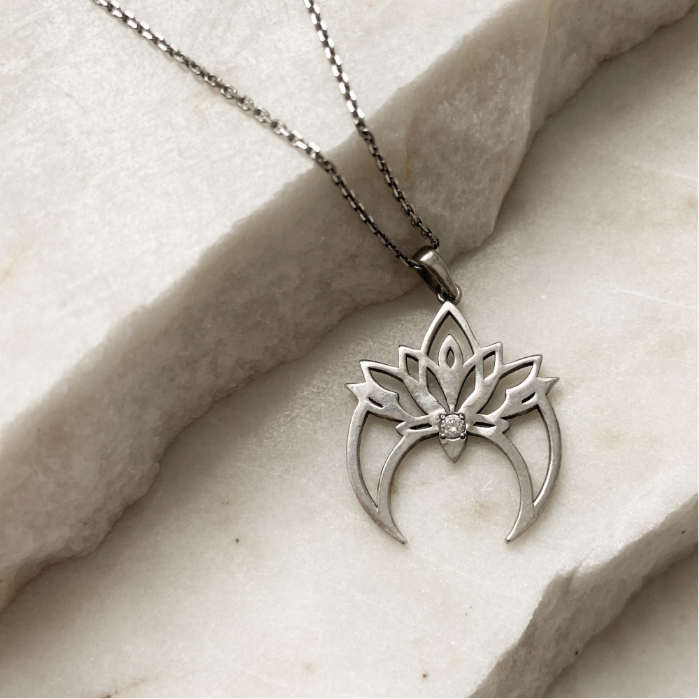 Колье ЛУННИЦА, серебро-925