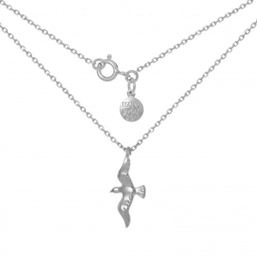 Колье ПТИЧКА, серебро-925